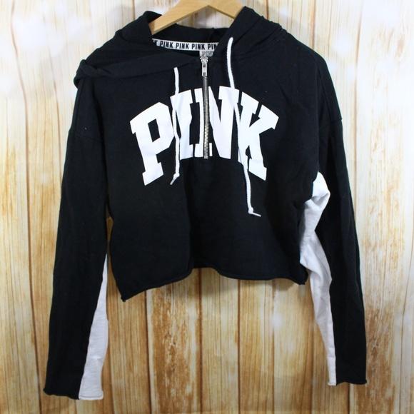 c2683c22f81 PINK Victoria's Secret Tops | Pink Victorias Secret Crop Sweatshirt ...